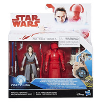 Star Wars: Force Link Figure - Rey (Jedi Training) & Elite Praetorian Guard 2 Pack