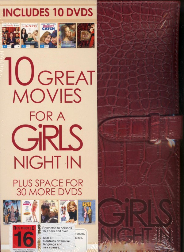 10 Great Movies For A Girls Night In (10 Disc Case) on DVD image