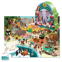 Crocodile Creek: 48-Piece Shaped Box Puzzle - Day at the Museum/Zoo image
