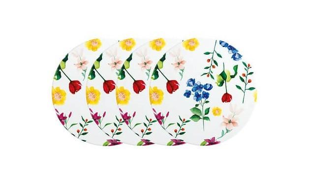 Maxwell & Williams Teas & C's Contessa Ceramic Round Coaster 9cm Set of 4