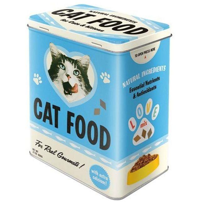 Nostalgic Art: Large Storage Tin - Cat Food