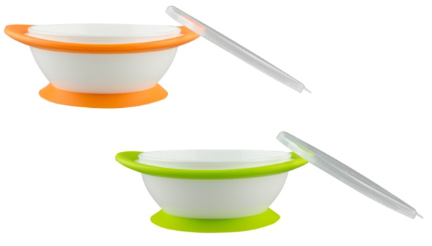 NUK: No-mess Suction Bowls with Lids