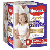 Huggies: Ulitmate Nappy Pants Jumbo - Size 5 Walker Unisex (50)