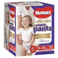 Huggies: Ulitmate Nappy Pants Jumbo - Size 5 Walker Unisex (50)