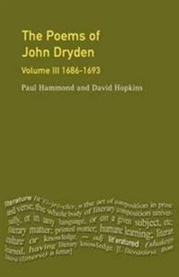 The Poems of John Dryden: Volume Three image