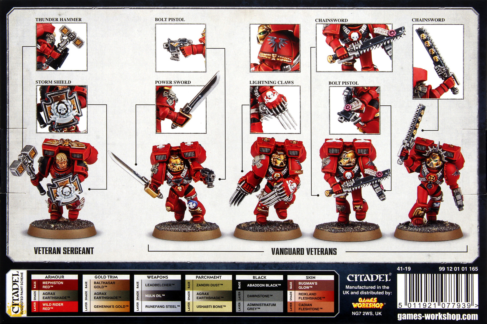 Warhammer 40 000 Blood Angels Vanguard Veterans At