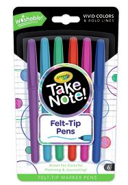 Crayola: Take Note - Washable Marker Pen (6 Pack)