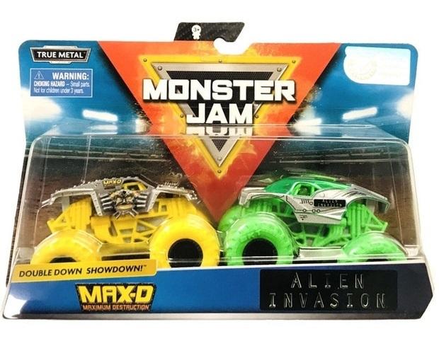 Monster Jam: 1:64 Scale Diecast 2-Pack - MaxD & Alien Invasion