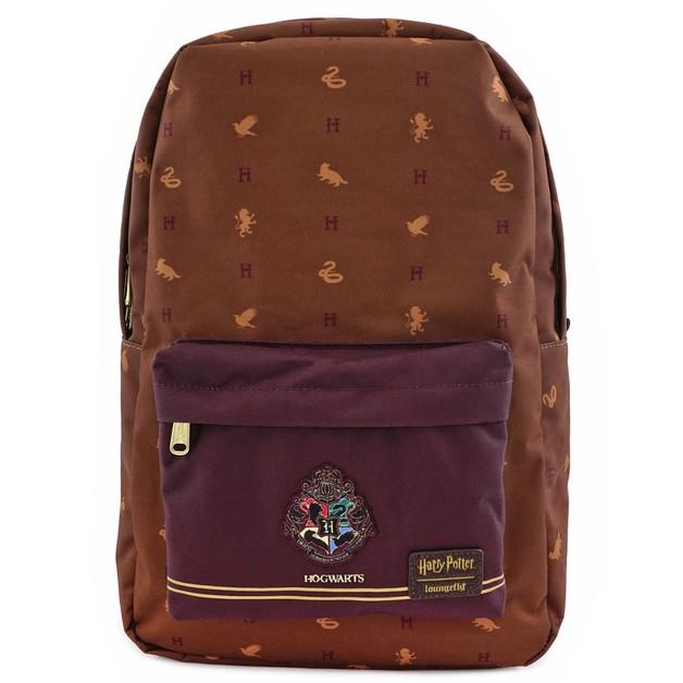 Loungefly: Harry Potter - Hogwarts Logo Brown Backpack