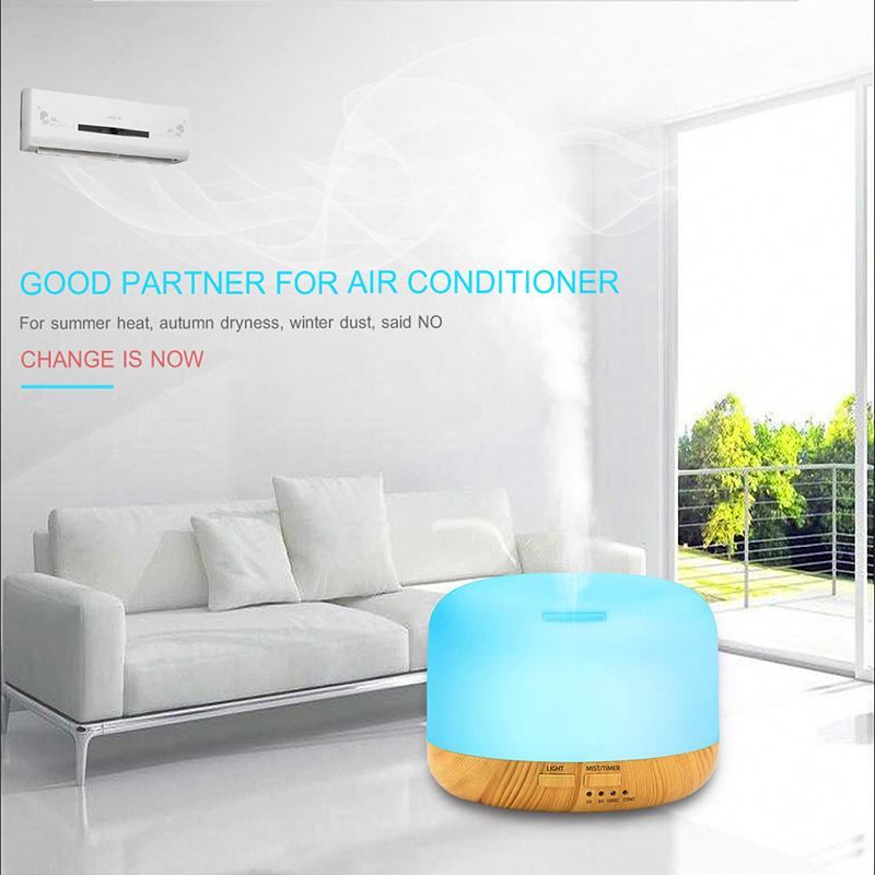 USB LED Light Ultrasonic Air Aroma Humidifier image