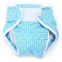 Real Nappies Splash Wrap Blue - Medium (6-9kg)