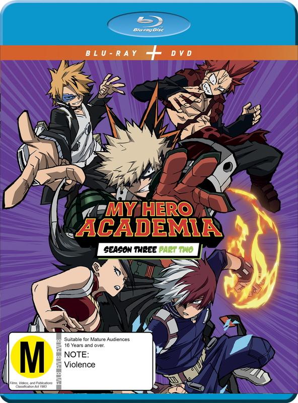 My Hero Academia - Season 3: Part 2 DVD / Blu-ray Combo on DVD, Blu-ray