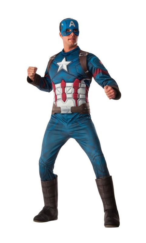 Marvel: Captain America Deluxe Muscle Chest Costume (STD)
