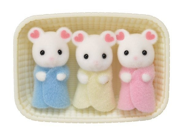Sylvanian Families: Marshmallow Mouse Triplets