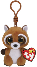 TY Beanie Boos: Rusty Raccoon - Clip On Plush