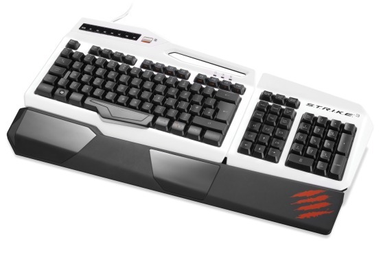 Mad Catz STRIKE 3 Gaming Keyboard (White) for PC image