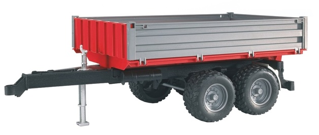 Bruder: Tipping Trailer - Red/Grey