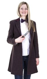 Doctor Who Ladies Eleventh Doctor's Purple Coat (Large)