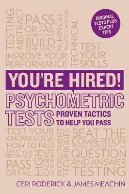 You're Hired! Psychometric Tests by Ceri Roderick image