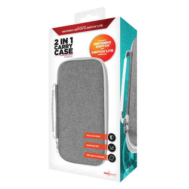 Powerwave Switch 2 in 1 Carry Case - Fabric for Switch
