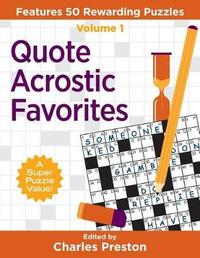 Quote Acrostic Favorites by Charles Preston