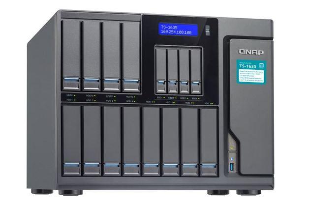 QNAP TS-1635-4G NAS,12+4 BAY(NO DISK),4GB,ARM CORTEX-A15,GbE(2),10GbE SFP+(2),USB,TWR,2YR