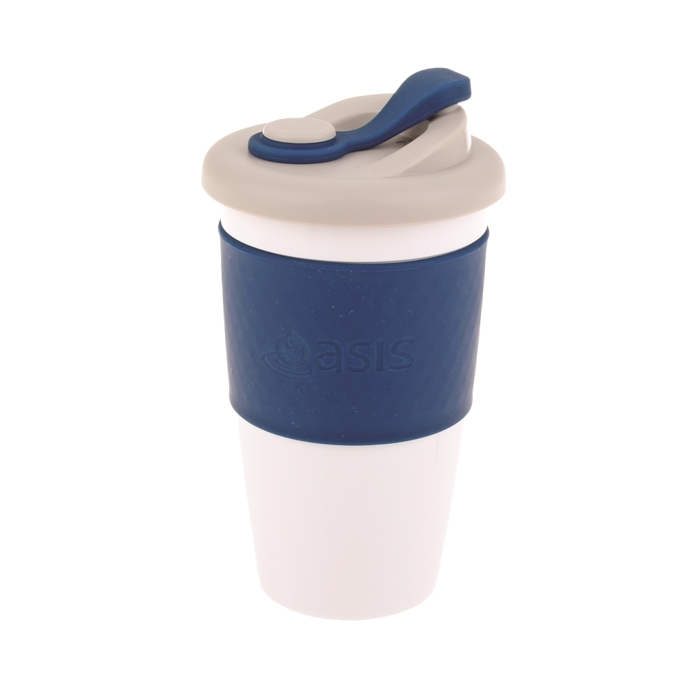 Oasis Plastic Coffee Cup - Navy (454ml) image
