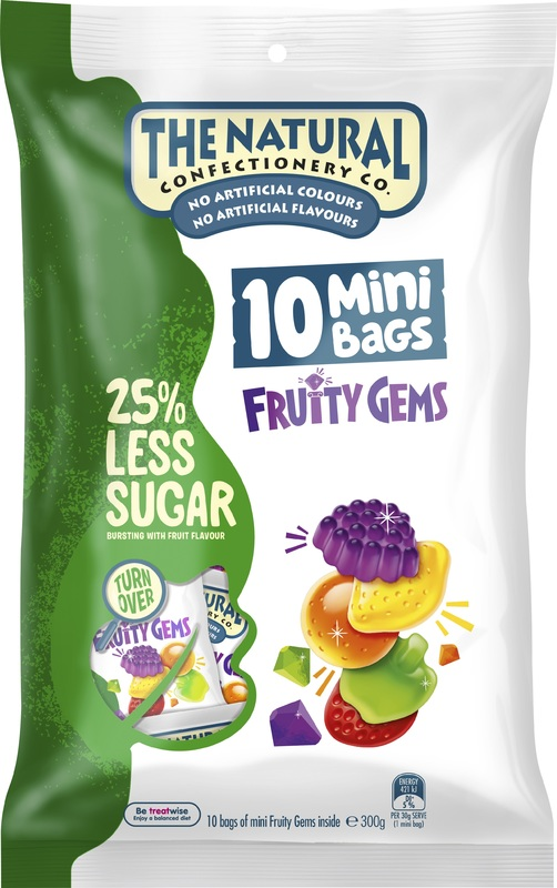 The Natural Confectionery Reduced Sugar Sharepack Fruity Gems (300g)