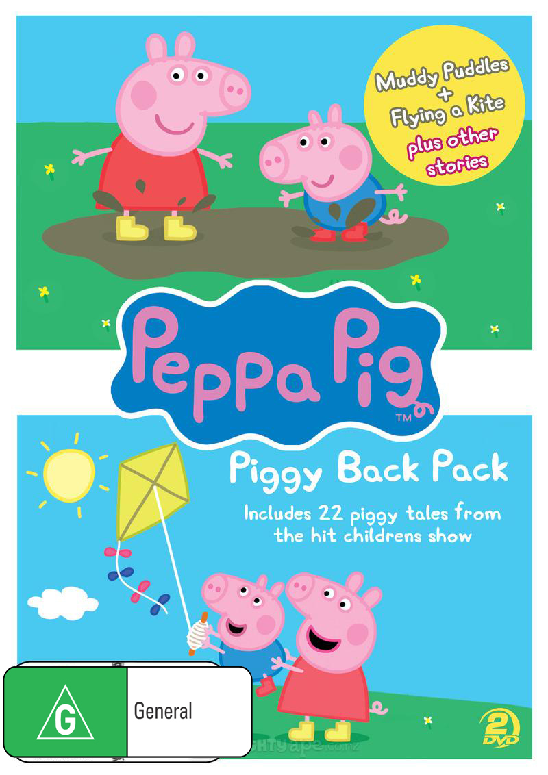 Peppa Pig: Piggy Back Pack Collection 1 (2 Disc Set) on DVD image
