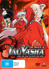 Inuyasha Movie 4 - Fire on the Mystic Island on DVD