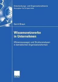 Wissensnetzwerke in Unternehmen by Gerrit Braun