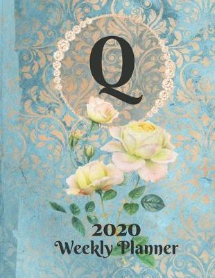 Plan On It Large Print 2020 Weekly Calendar Planner 15 Months Notebook Includes Address Phone Number Pages - Monogram Letter Q by Nine Forty Publishing