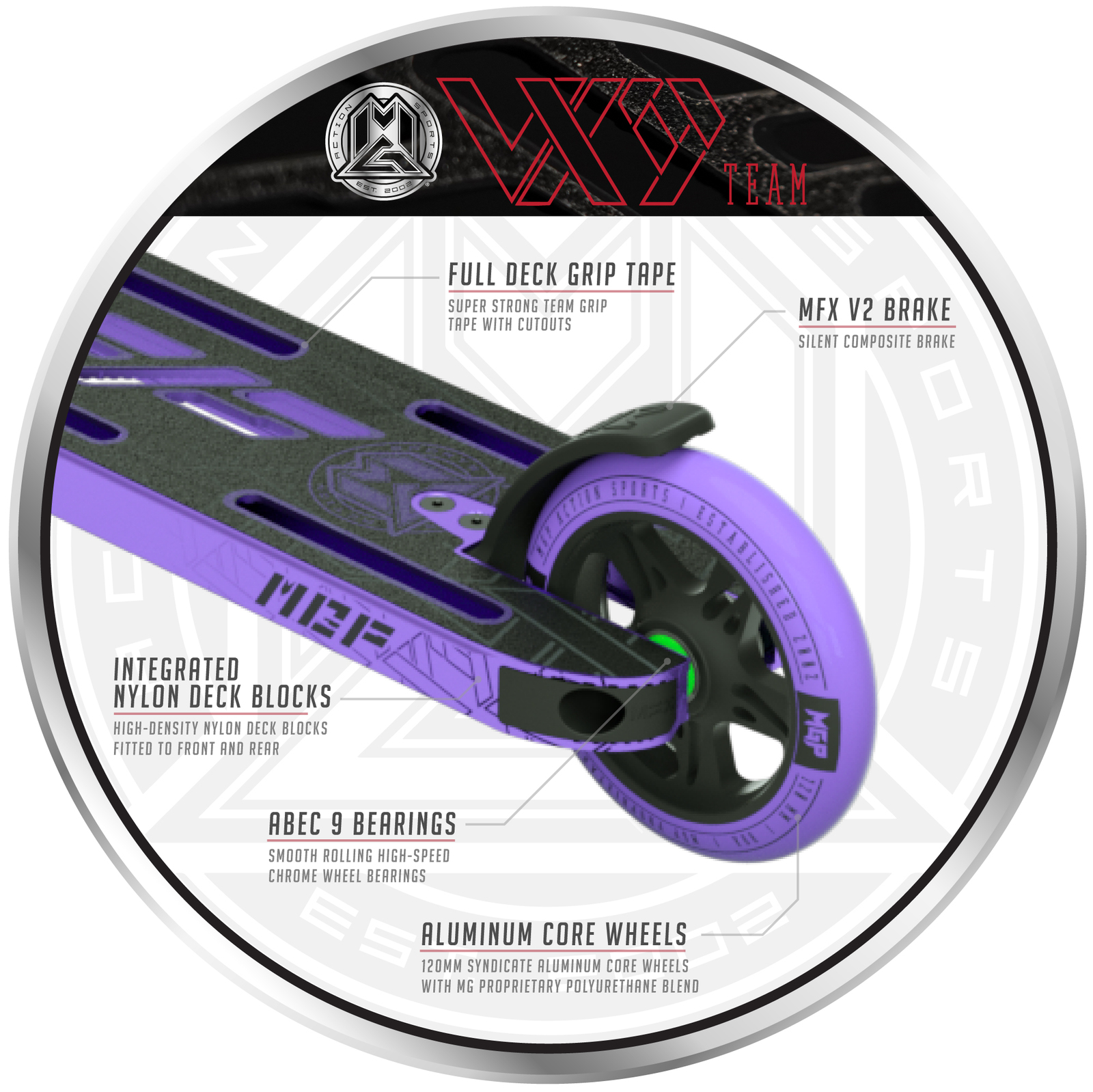 MADD Gear: VX9 Team Scooter - Purple image