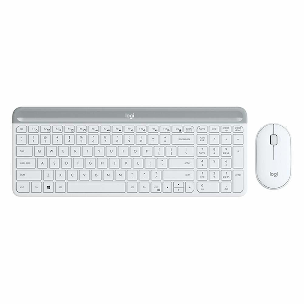 Logitech MK470 Slim Wireless Keyboard and Mouse Combo - White image