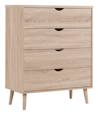 Shangri-La: Chest of 4 Drawers Nyhavn Collection - Oak