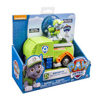 Paw Patrol Basic Vehicle & Pup - Rocky's Recycling Truck
