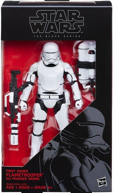 Star Wars The Black Series 6 Inch First Order Flametrooper Action Figure