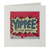 James Ellis: Yippee Birthday Shakies - Greeting Card image