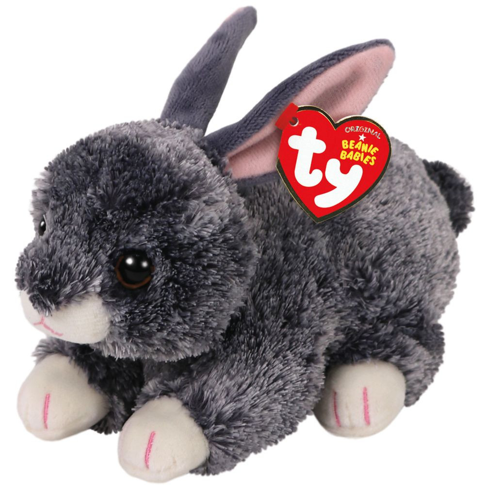 TY Beanie Babies: Smokey Grey Rabbit - Small Plush image