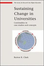 Sustaining Change in Universities by Burton R Clark