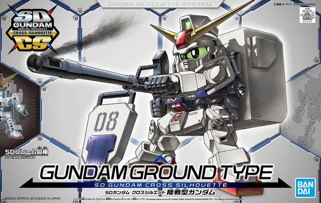 SD Cross Silhouette: Gundam Ground Type - Model Kit
