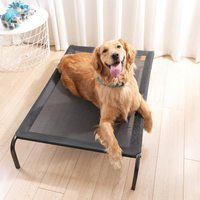 Indoor/Outdoor Elevated Portable Pet Bed - Large (Black)