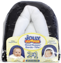Jolly Jumper 2 in 1 Terry Head Hugger - Black/White