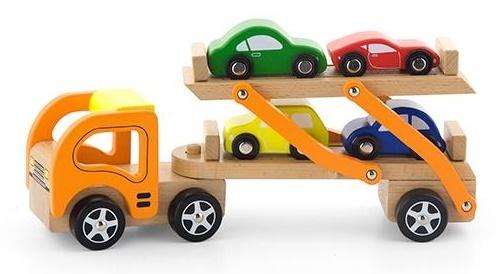 VIGA Wooden Toys - Car Carrier - Vehicle Set