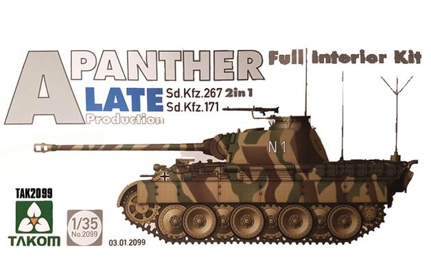 Takom: 1/35 Panther Interior Kit (Late Ver.) - Model Kit