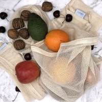Organic Reusable Produce Bags - Set of 4