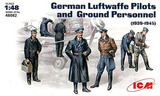 ICM: 1/48 German Luftwaffe Pilots And Ground Crew Model Kit