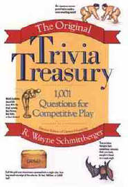 The Original Trivia Treasury by R Wayne Schmittberger image