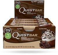 Quest Nutrition - Quest Bar Box of 12 (Mocha Chocolate Chip)