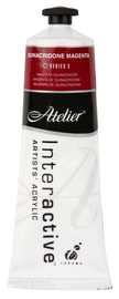 Atelier: Interactive Artists' Acrylic Paint - Quinacridone Magenta (80ml)